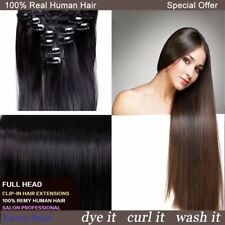 Premium Quality Any Lengths Clip In Remy Human Hair Extensions Full Head Party
