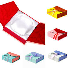 Square Bowknot Package Bracelet Bangle Jewelry Display Box Gift Present Case NS