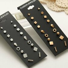 9Pair/Set Fashion Womens Ear Stud Jewellery Gift Different Shape Earrings Suit