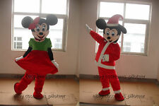 Hot Mickey Minnie Mouse Mascot Costume Party fancy Dress Adults free shipping