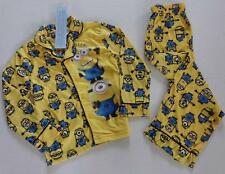 DESPICABLE ME Boys 4 Flannel Pjs Set PAJAMAS Shirt Pants MINION