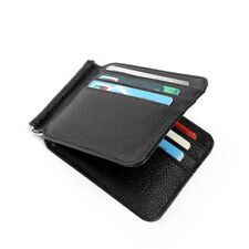 Bifold Separable Slim Leather Thin Front Pocket Wallets for Men Money Clip