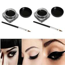 4PCS Mini Eyeliner Gel Cream With Brush Makeup Cosmetic Black Life Waterproof