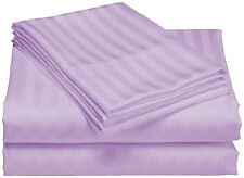 Olympic Queen 800 TC Egyptian Cotton Deep Pocket 4 Pc Stripe Sheet set All Color