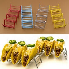175 x 65 x 45mm Tacos Holders Wave SS Steel Display Food Rack 3-4 Shell 4 Colors