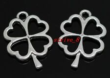 40/240pcs Tibetan Silver Jewelry Finding leaves charms pendant DIY 25x17mm
