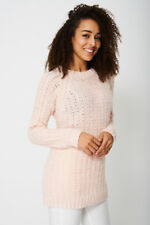 Gorgeous Pink Longline Textured Jumper for Women – Size 12&16