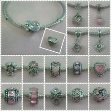 ~ Antique Silver Pink Style Charms ~  FOR CHARM BRACELETS ~ 99p Each ~ Gift Bag~