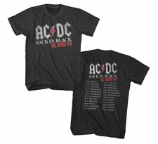NEW Officially Licensed AC/DC Back in Black UK Tour 1980 T-Shirt Rock Band