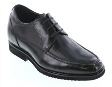 CALTO T54012 - 2.8 Inches Elevator Height Increase Black Lace Up Dress Shoes