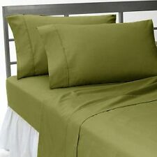 1200TC 100%Egyptian Cotton Complete Bedding Items US Sizes Color Moss Solid