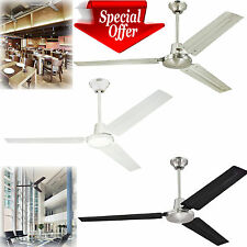 "Industrial Ceiling Fan 56"" Three Blade Ball Hanger Wall Control Unit Commercial"
