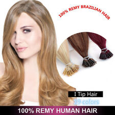 """16"""" ~26"""" I Tip Pre bonded Human Hair Extensions 0.5/1gram With FREE Micro Beads"""