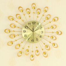Mute Wall Clock Decorative Crystal 3D Large Silent Clocks Diameter 54cm/21""