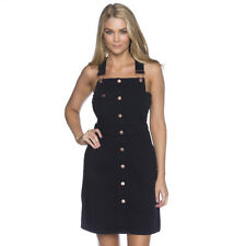 Suzanne Long Pinafore in Black