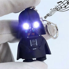 Newly Cool Light Up LED Star Wars Darth Vader With Sound Keychain Keyring Gift