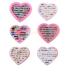 36 Pairs Earrings Sets Lady Girls School Daily Party Fancy Colorful Earring Stud