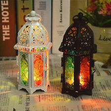 vintage Candle Hollow Holder Metal Lantern Hanging Candlestick Tealight Cage Bir