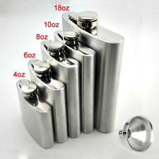 8 Size Portable Stainless Steel Hip Flask Flagon Wine Pot Bottle