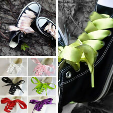 70/120cm 20mm Shoelaces FashionShoe Laces Flat Shoestring Made Of Silk Ribbon BH