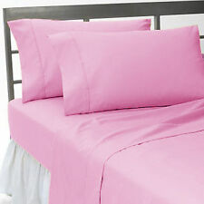Pink Solid Luxury Bedding Collection 1000 TC 100%Egyptian Cotton All US Size