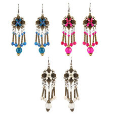 Women Boho Drop Dangle Studs Long Tassel Ethnic Beads Earrings Party Jewelry