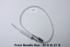 SS Curved Shaft Aspiration Cannula Simco Cortex Extractor 0.3 mm Side Port Ophth