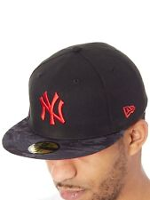 New Era Black-Camo-Red Contrast Camo New York Yankees 59Fifty Fitted Cap