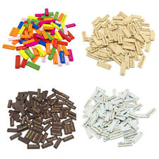 50pcs Sewing Wood Buttons 2 Holes Handmade Label Gift Tags for Scrapbooking