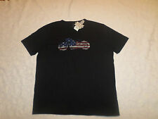 LUCKY BRAND T-SHIRT MEN  SIZE XL SHORT SLEEVE BLACK COLOR NEW WITH TAGS