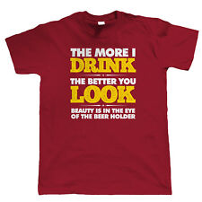The More I Drink Mens Funny T Shirt - Home Brew Gift for Him Dad Birthday