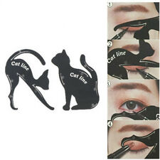 2X/Set New Cat Line Eye Makeup Tool Eyeliner Stencils Template Shaper Model BH