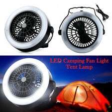 3 Power Modes Camping Celling Fan Light USB Hiking Lamp LED Outdoor Tent Lantern