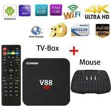 V88 4K Android6.0 Smart TV Box 8G Quad-Core HD 1080P WiFi+Wireless Keyboard O9C1