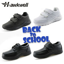 Hawkwell Boys School Shoes White Black Uniform Kids Sneakers Students Oxford