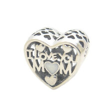 Authentic Sterling Silver I Love You Mom Enamel Bead MOTHER'S DAY 2018