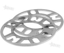 2/4 Pieces 5MM ALLOY WHEEL SPACERS SHIMS SPACER UNIVERSAL 4 AND 5 STUD FIT