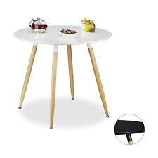 Round Dining Table Wooden Kitchen Table Black White Living Room Dining Room Eat