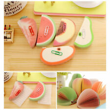 Fruit Shaped Notepad Memo STATIONARY NOTES Cute Gift Pad Scratchpad Paper BH