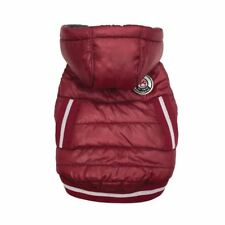 NEW Arctic Tek Dog Parka foufou Dog Water Resist Fleece Lined Warm Red 3-20 lbs
