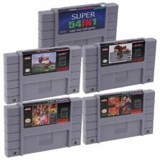 Super Nintendo SFC/SNES 54 in 1 Games Cartridge Console NTSC English US Version