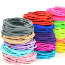 Colourful Thick Endless Snag Free Hair Elastics Bobbles Bands Pony Tails 50pcs