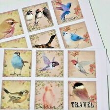 15-45 STICKERS SCRAPBOOKING CRAFT CARDMAKING EMBELLISHMENTS VINTAGE BIRDS