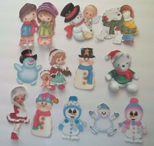 3D-U Pick- NEW 10-17 Winter Snowmen Bear Girl Angel Scrapbook Embellishment