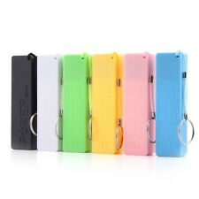 Portable Mobile Power Bank USB Charger Key Chain case for Phone (No Battery) J#