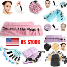 32Pcs Makeup Beauty Brush Set Soft Cosmetic Eyebrow Shadow Kit With Pouch Bag US
