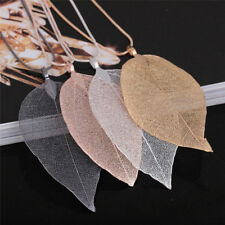 Unique Women Fashion Jewelry Simple Leaf Sweater Pendant Long Chain*Necklace .