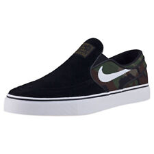 Nike SB Zoom Stefan Janoski Mens Slip On Black Camouflage Branded Footwear