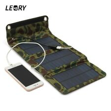 5W 5.5V USB Output Portable Solar Panel Charger Folding Camping Trip Power Bank