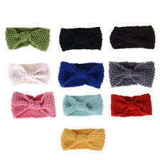 Cute Kids Girl Baby Toddler Crochet Hair Band Bow Headband Accessories Winter BH